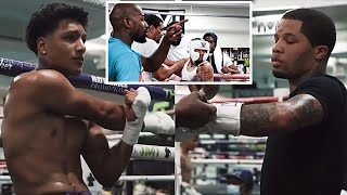 Gervonta Davis SPARRING Amado Vargas(SON OF MEXICAN LEGEND Fernando) In-Front of Floyd Mayweather Jr