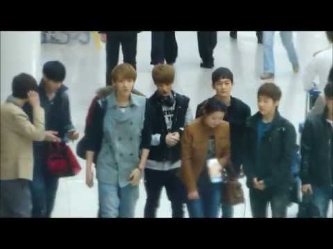 120407 Fancam HD EXO-M at the Inchon Airport