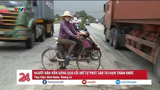 Người dân Kim Thành, Hải Dương vẫn liều mình băng qua đoạn đường xảy ra tại nạn thảm khốc | VTV24