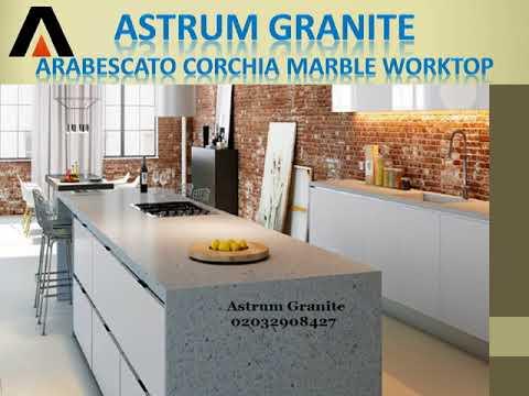 Arabescato Corchia Marble Kitchen Worktop in London UK - Astrum Granite