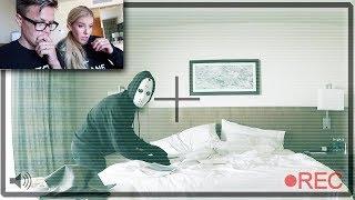 FOUND GAME MASTER  in our HOTEL ROOM (SECRET Hidden Spy Gadgets Surveillance footage behind MASK)