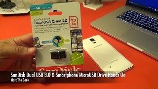 SanDisk Dual USB Drive 3.0 & Smartphone MicroUSB Drive Hands On (Easy File Transfer)