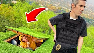 EXTREME Hide & Seek VS a REAL Detective! *ARRESTED IF FOUND*