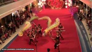 Hong Kong Chinese New Year 2013 - Dragon Dance @ Festival Walk - Kwok's Team 郭氏功夫金龍醒獅團