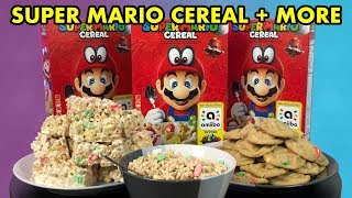 I MADE COOKIES & TREATS OUT OF SUPER MARIO CEREAL!