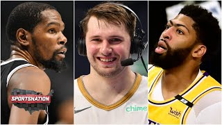 Luka puts KD on skates, Kyrie drops 45 and AD leaves with back spasms   SportsNation