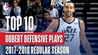 Rudy Gobert 17'-18' Defensive Player Of The Year | Top 10 Defensive Plays Of The Season