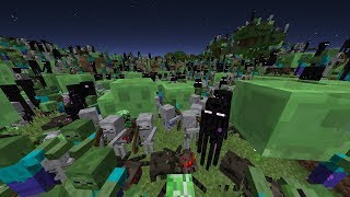 Minecraft, but Mobs Rises Every Minute (thousands of mobs)