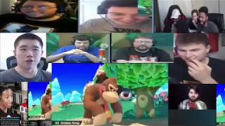 "Super Smash Bros ""ULTIMATE EVERY ONE IS HERE"" reveal trailer HD E3 2018 live mega reaction mashup"