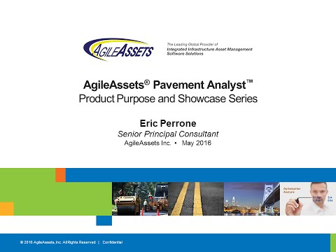 AgileAssets® Pavement Analyst™ - Product Showcase Series
