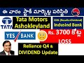 Yes Bank stock 3700Cr LOSS, TATA MOTORS STOCK, CDSL STOCK, RELIANCE STOCK