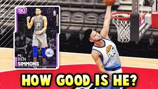 How GOOD Is Amethyst Ben Simmons ACTUALLY? | 6'10 Point Guard in NBA 2k19 MyTEAM!!