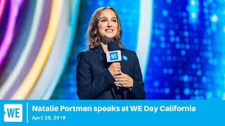 Natalie Portman speaks live from WE Day California