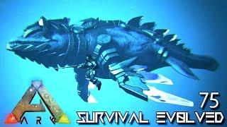 ARK: SURVIVAL EVOLVED - ALPHA TEK MOSASAUR SADDLE UNLOCK !!! E75 (MODDED ARK EXTINCTION CORE)