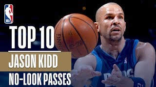 Jason Kidd's Top 10 Career NBA No Look Assists!