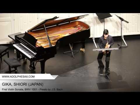 Dinant 2014 - Gika, Shiori - First Violin Sonata, BWV 1001 - Presto by J.S. Bach