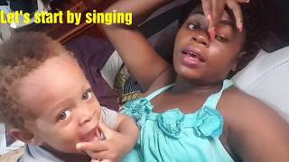 Saturday Morning Routine with Two Toddlers|Making my Baby Walk| Singing with my 2 year old