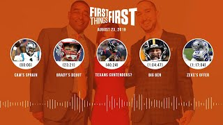 First Things First Audio Podcast(8.23.19) Cris Carter, Nick Wright, Jenna Wolfe   FIRST THINGS FIRST