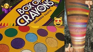 The Crayon Case 'Box of Crayons' Eyeshadow Palette - LIVE SWATCHES   WOC