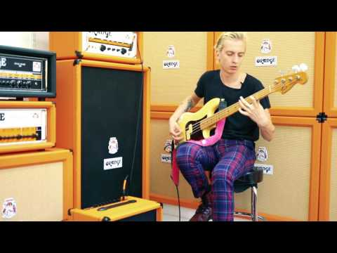 Theo Ellis of Wolf Alice - Orange Crush Bass 50 Demo