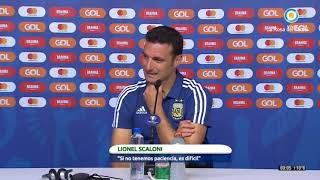 RUEDA DE PRENSA LIONEL SCALONI DT POST ARGENTINA VS PARAGUAY