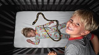Tydus put a SNAKE in RyRy's BED! *Big Trouble*