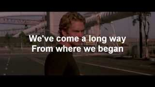 Wiz Khalifa - See You Again ft. Charlie Puth Lyrics (Paul Walker Tribute)