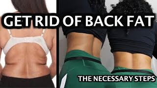 Necessary Steps to get Rid of Back Fat & Strengthening Lower Back