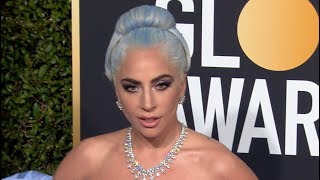 Lady Gaga, Bradley Cooper and Irina Shayk arrive at the Golden Globe Awards 2019
