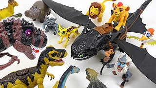Dinosaurs army is coming! Lion Guard! Defeat the King Dinosaur with Dark Dragon! - DuDuPopTOY