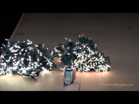 Comparing LED Christmas Lights to Incandescent Mini Lights - How Much Heat is Generated