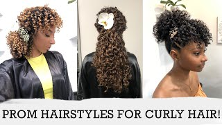 Cute Prom Hairstyles For Curly Hair! 3 Curl Types, 3 Lengths, 6 Styles!   BiancaReneeToday
