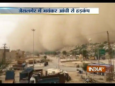 India Tv - Video of Deadly Sandstorm Hitting Jaisalmer
