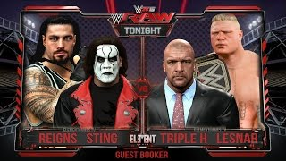 WWE RAW 2017: Brock Lesnar & Triple H vs Sting & Roman Reigns - Tag Team (PS4)