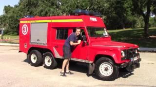 I Drove a 6-Wheel Drive Land Rover Fire Truck