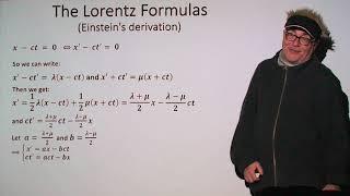 Special Relativity Mystery - Part 2: Einstein and the Lorentz Formulas