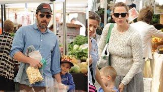 Jennifer Garner And Ben Affleck Take Their Kids To The Farmer's Market Together