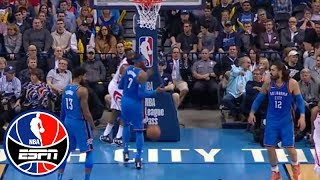 Carmelo Anthony yelling at Steven Adams shows a 'disconnection' in OKC | NBA Countdown | ESPN