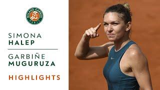 Simona Halep vs Garbine Muguruza - Semi-Final Highlights I Roland-Garros 2018