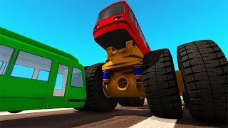 Beamng drive - Belaz 75710 Heavy Car Destruction & Crashes #2