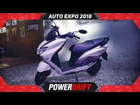 Suzuki Burgman Street @ Auto Expo 2018 : 125cc Maxi Scooter For India : PowerDrift