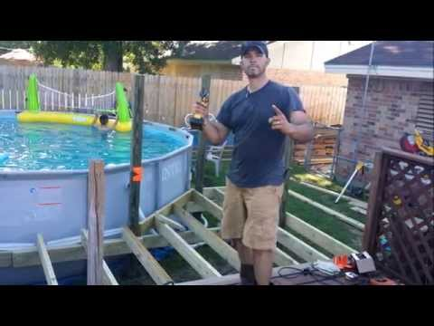 intex rectangular metal frame pool setup instructions