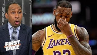 Is LeBron's usage being wasted on the Los Angeles Lakers? l First Take