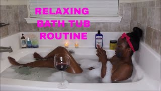RELAXING AT HOME SPA PAMPER ROUTINE | MY BATH ROUTINE