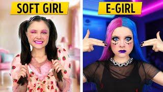 E-GIRL vs. SOFT GIRL when GRANDMA is coming – Relatable family musical by La La Life
