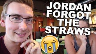 JORDAN FORGOT THE STRAWS