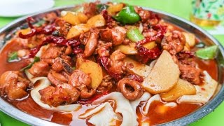 Halal Street Food Journey To Islamic China | Xinjiang HUGE CHICKEN PLATE on the Chinese Silk Road
