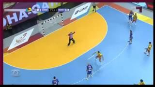 Que le pitaron al Barcelona en la última del primer tiempo vs Hamburgo? VIDEO | Mundo Handball