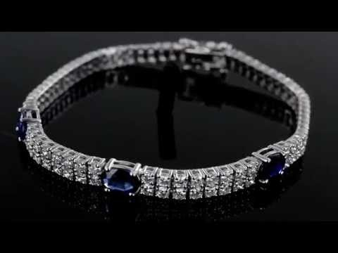 Browns Family Jewellers Diamond And Sapphire Bracelet