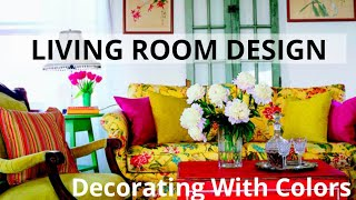 Small Living Room Decorating Tips & Ideas | DIY | Budget Friendly | Colorful Living Room | Tour